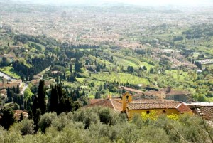 The scenic view from Fiesole