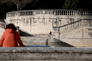 A lovely day in the public gardens in Nimes